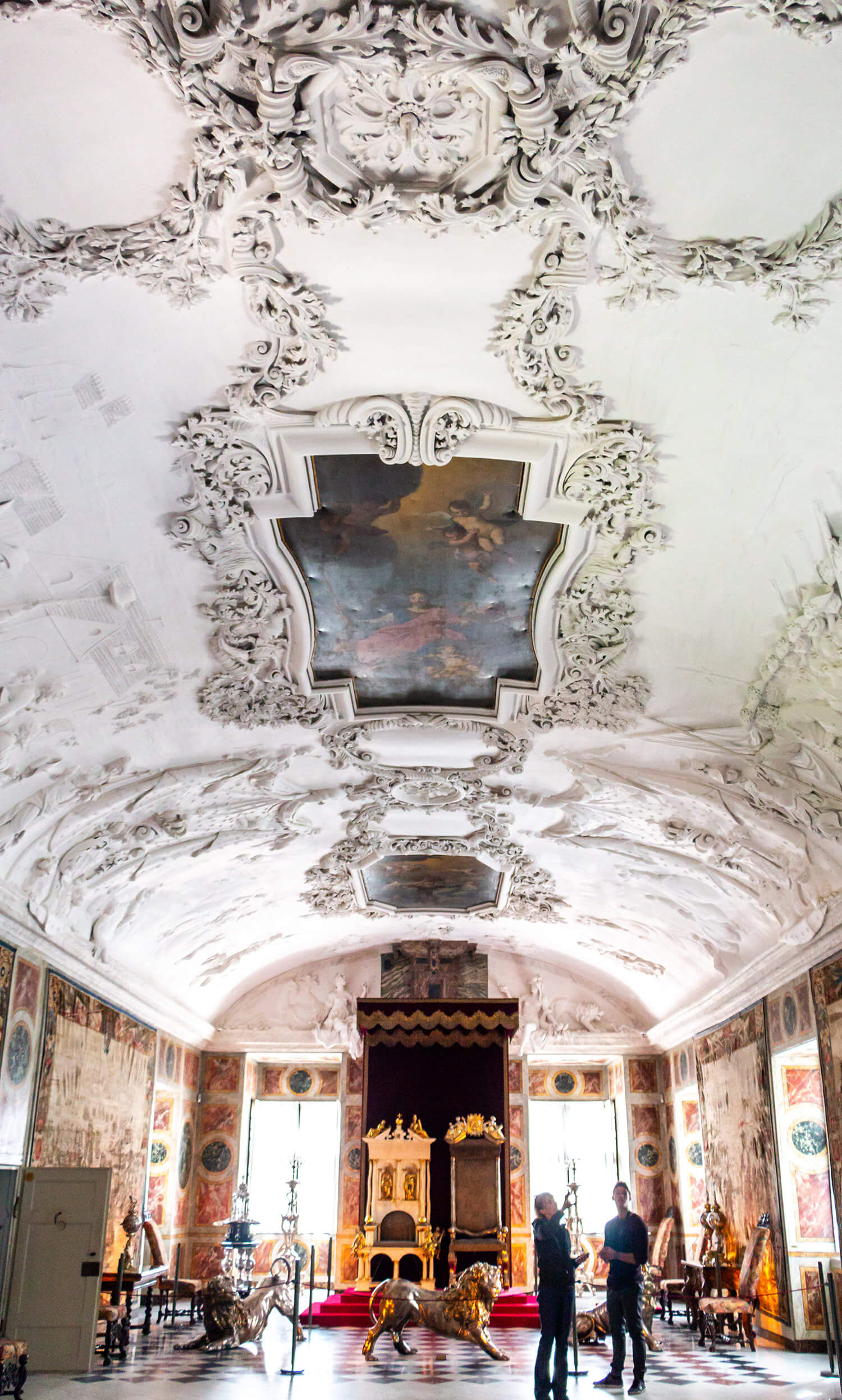 The Rosenborg Castle ceiling