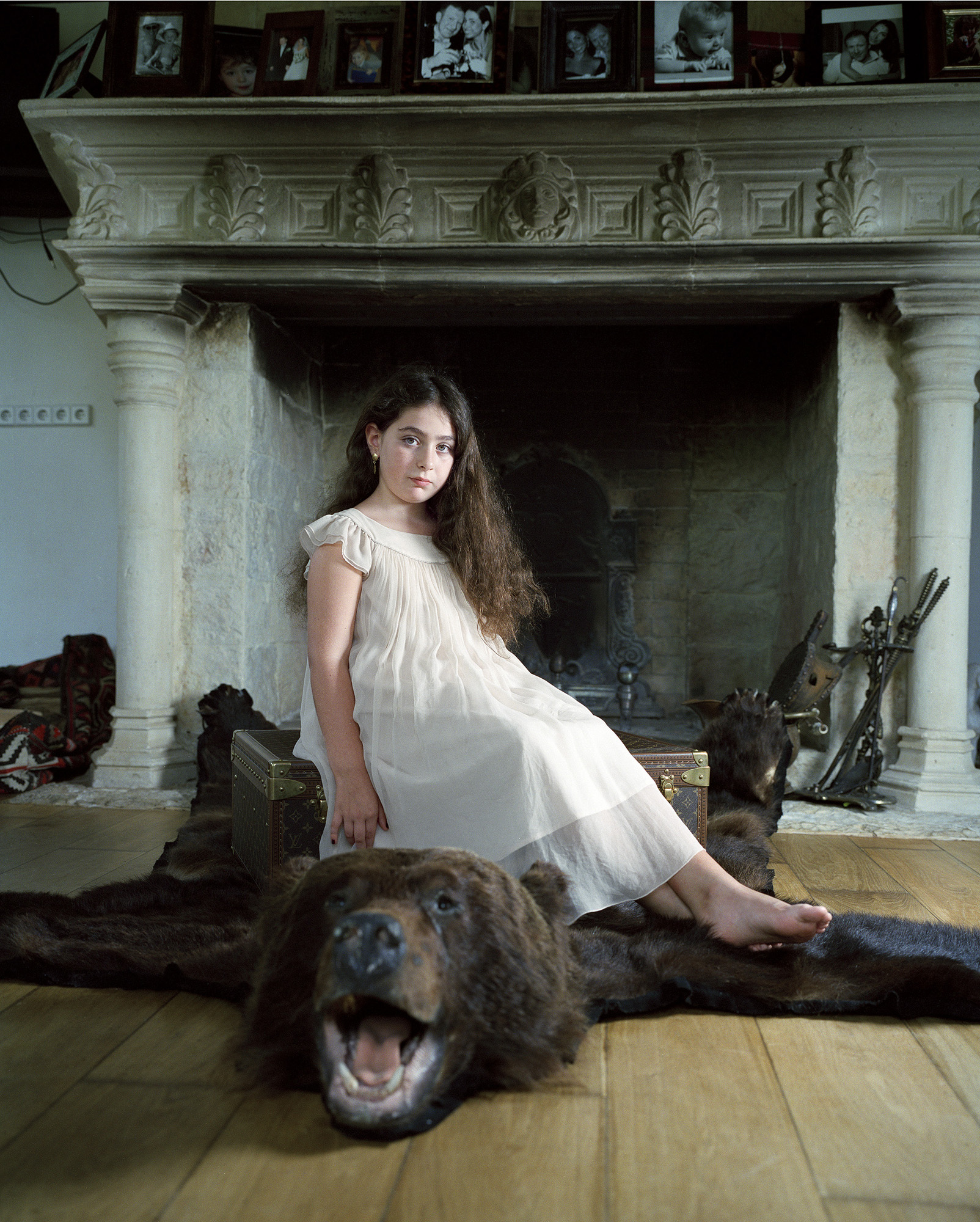 Sonia Sitting on the Bear Rug, Moscow 2009
