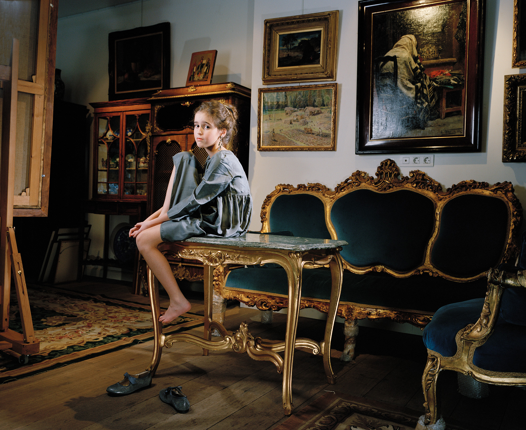 Liza inside Her Father's Antique Store, Moscow 2010