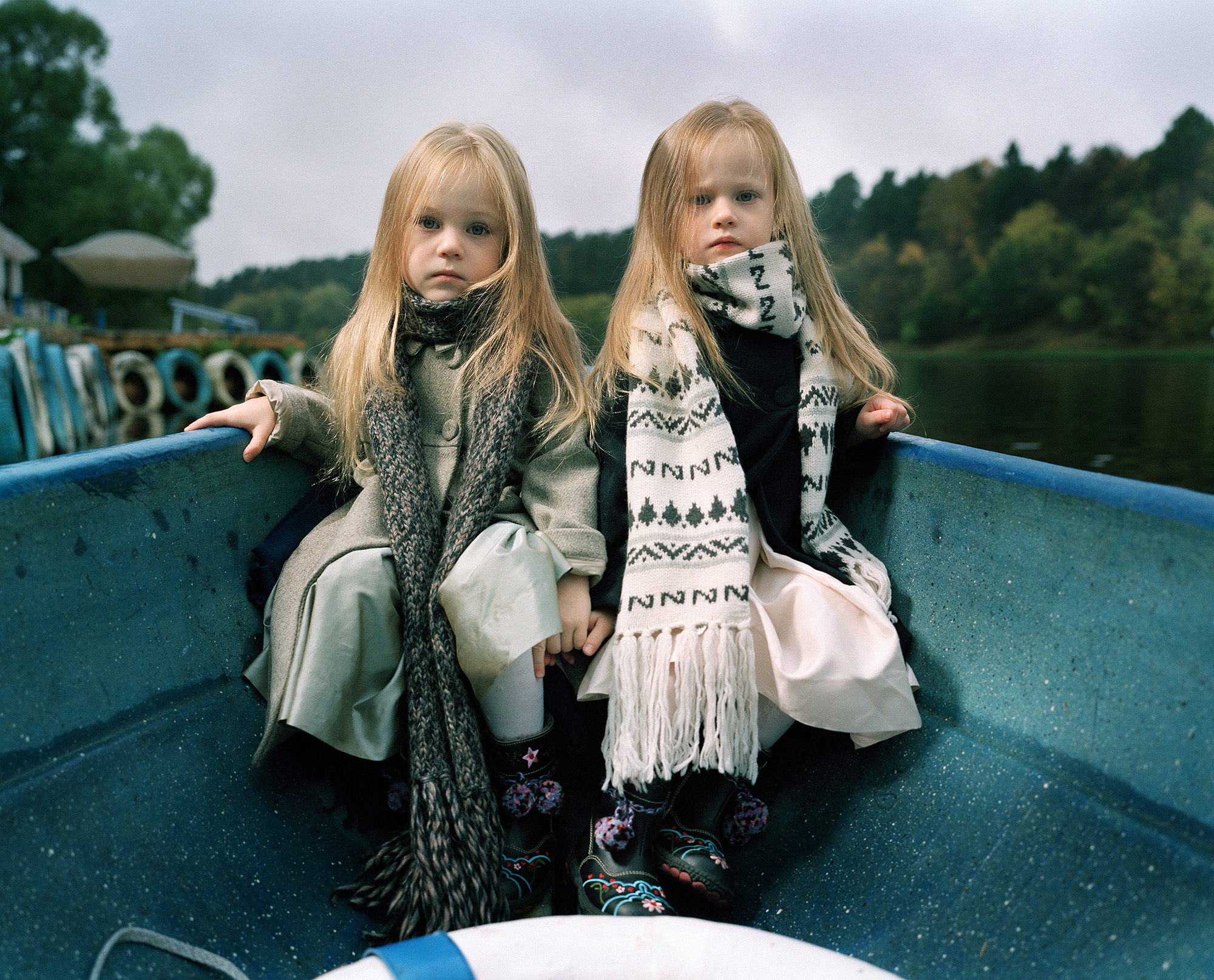 Ilona and Ella on a Rowing Boat, Moscow 2009