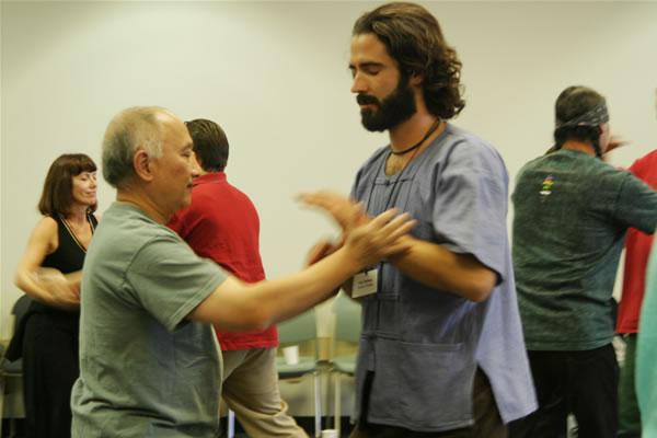 John training with his tai chi sifu