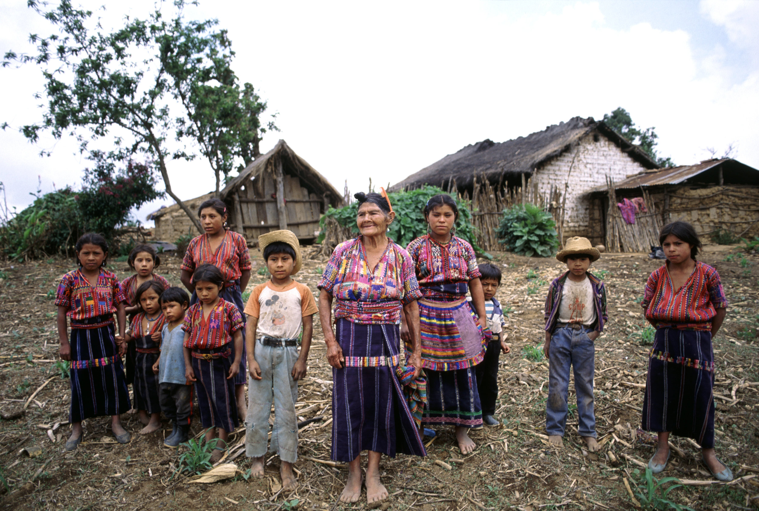 Cakchiquel family of the Guatemalan Western Highlands