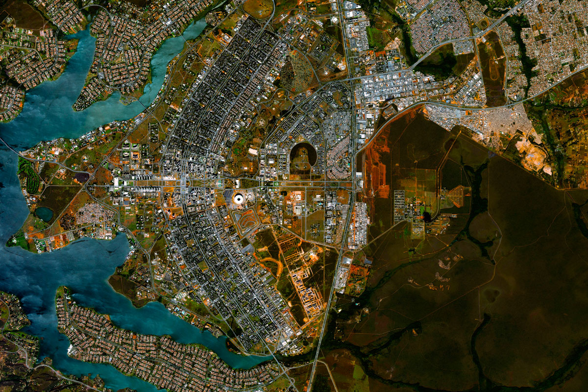 Brasilia, Brazil's capital - in the shape of a Phoenix