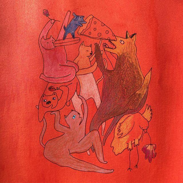 Good morning. 🧖♀️🙆♀️ #illustration #cartooning #characters #friends #odd #pizza #pals