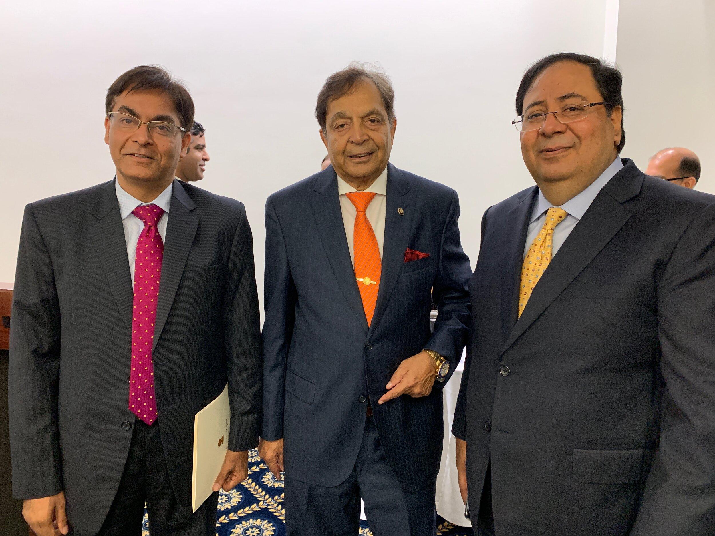 From Left to Right:  Mr. Amit Kumar (Deputy Chief of Mission, Embassy of India), Dr. Sampat Shivangi (Advisory Board Member - RealAssets), Mr. Suresh Nichani (Chairman-RealAssets)