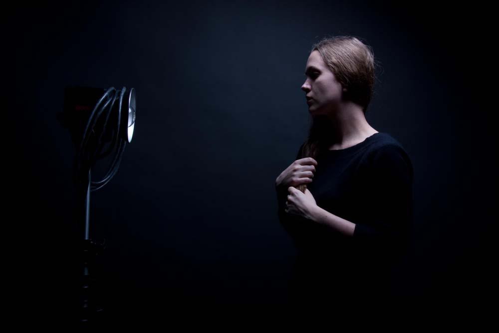 Self portrait with Godard, 2010. © Julie Badin