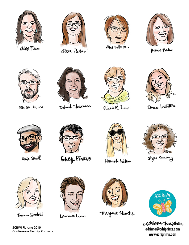 SCBWI FL June Conference Faculty Portraits