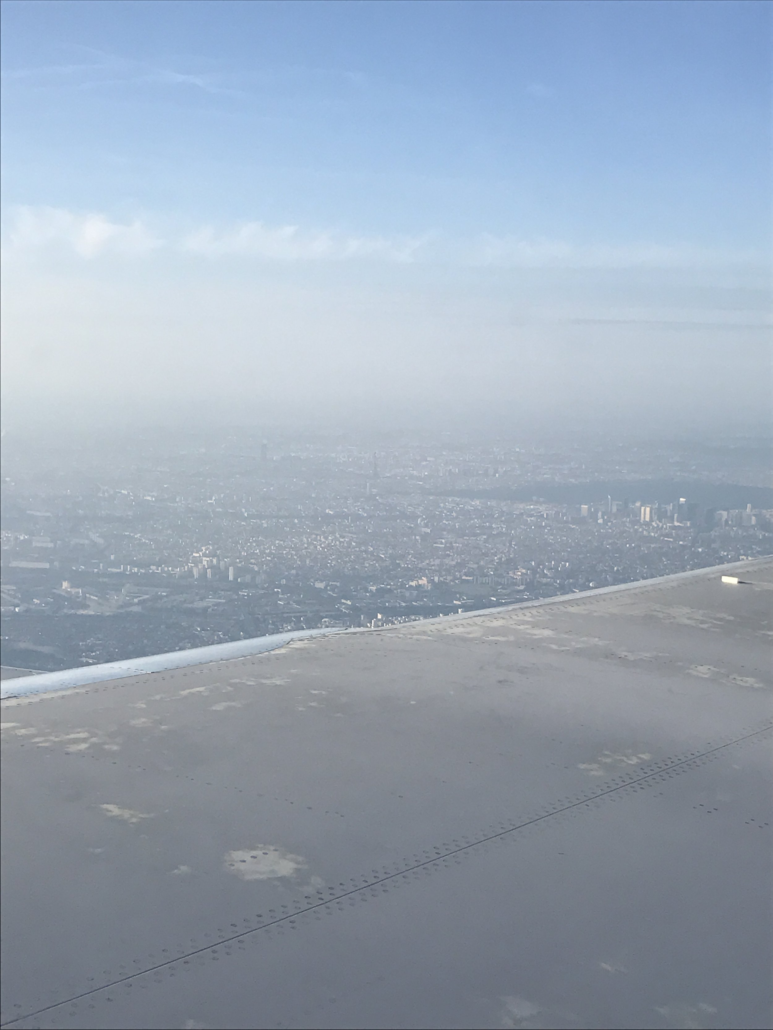 Look very closely and you can see the Eiffel Tower and Notre Dame!