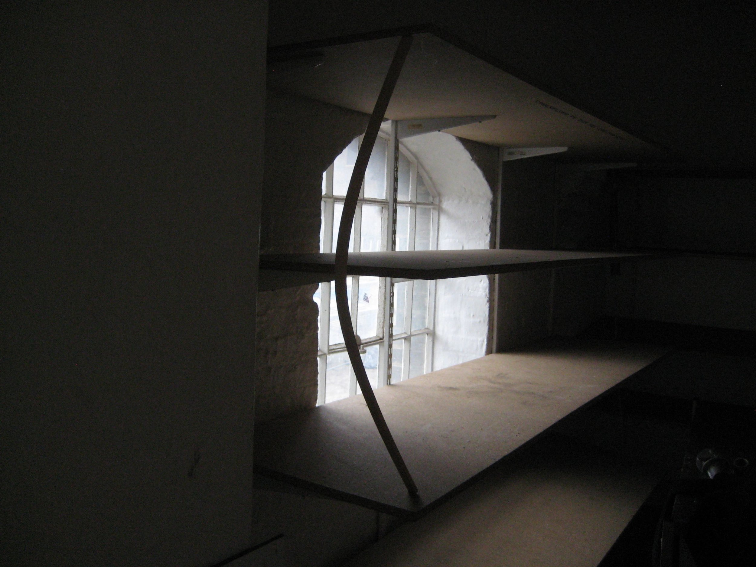 CLXXIII Shelf and timber tension sculpture.jpg