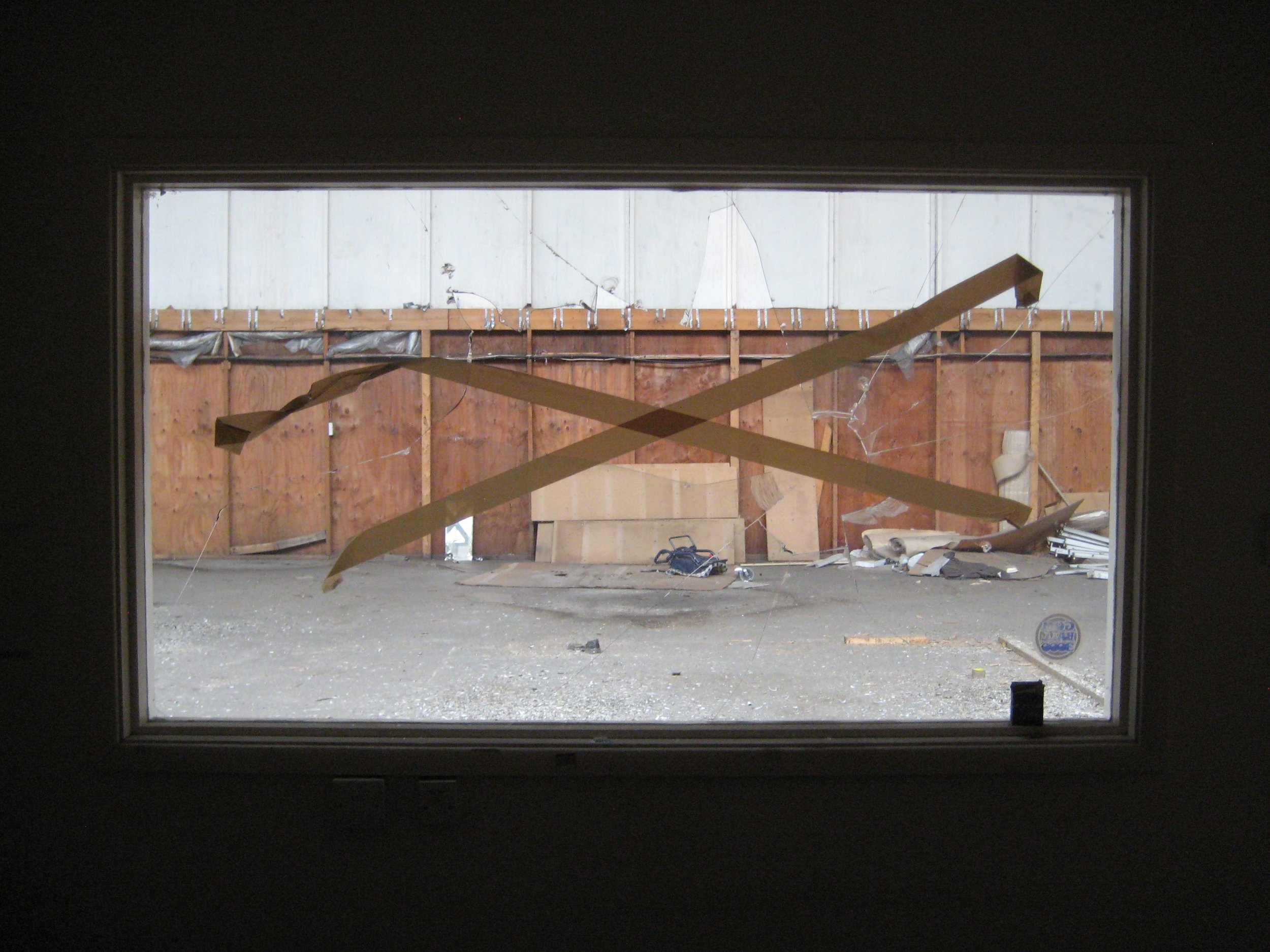 VII Object propelled through space (and glass) with added tape.jpg