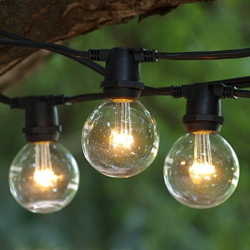 Hot and new: string lighting.