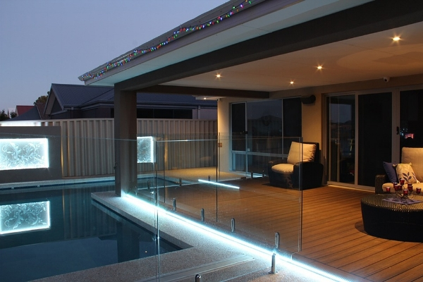 Layered lighting in the outdoors provides a huge security bonus.
