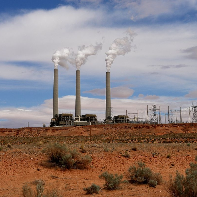 Navajo Power Generating Station, supplied by Arizona's only coal mine, Kayenta