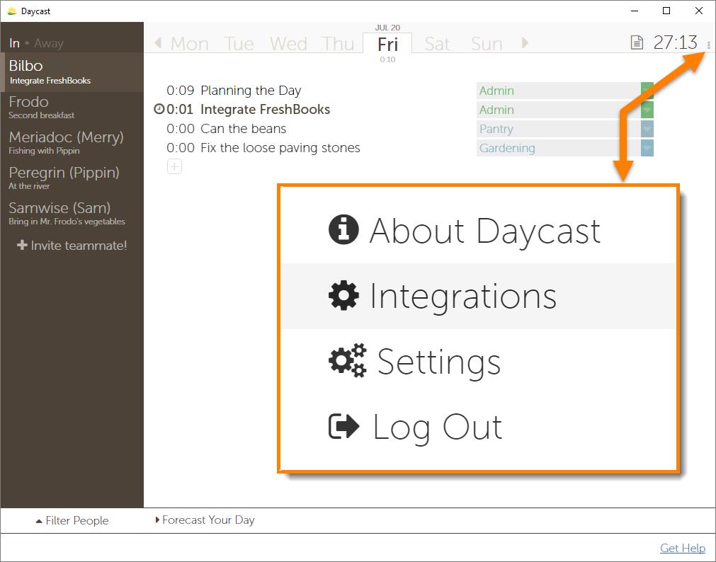 FreshBooks Day Planner Integration