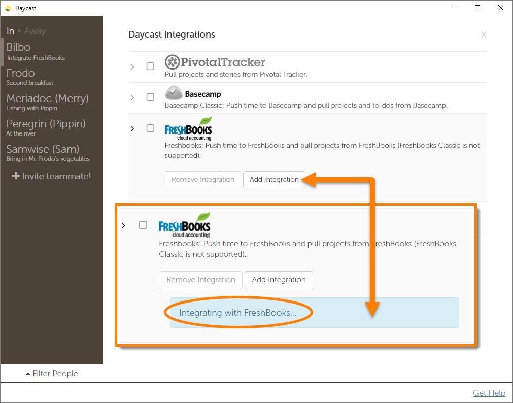 Day Planner App FreshBooks Integration