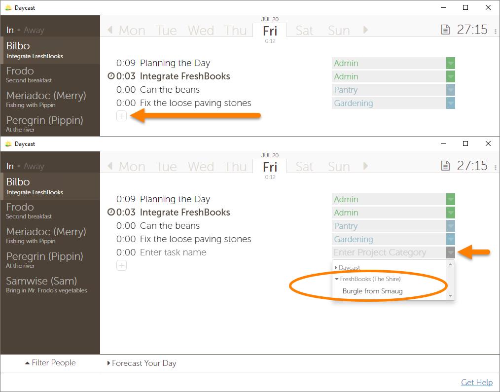 FreshBooks Day Planning Integration