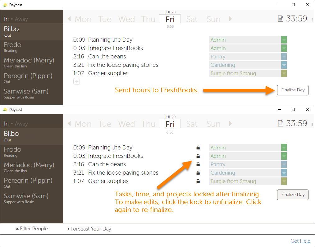 FreshBooks Time Tracker Integration
