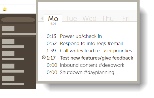 Time tracking with Daycast