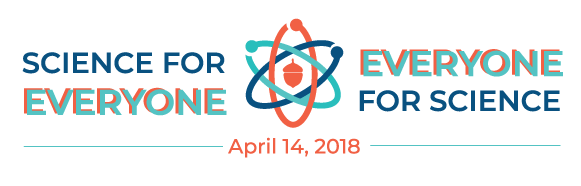 Raleigh March for Science Teal/Orange Logo