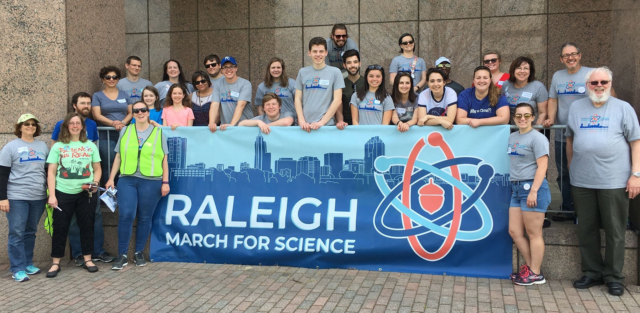 The 2018 Raleigh March for Science volunteer team.