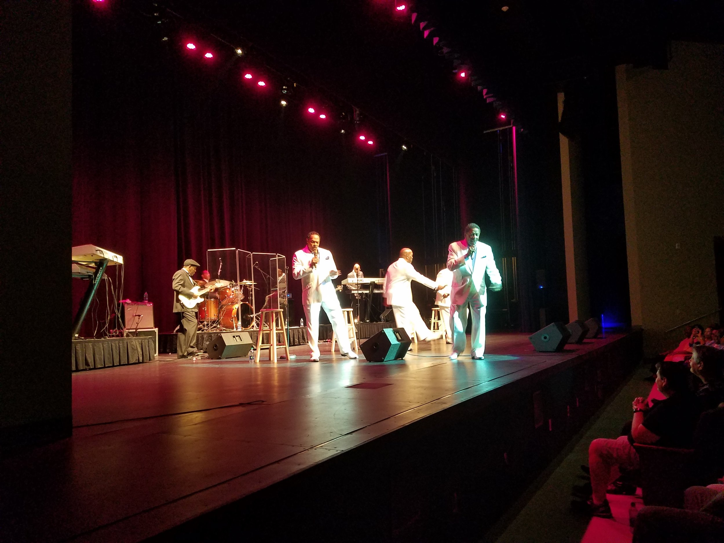 The Manhattans performing in McGregor Hall's first sell-out performance