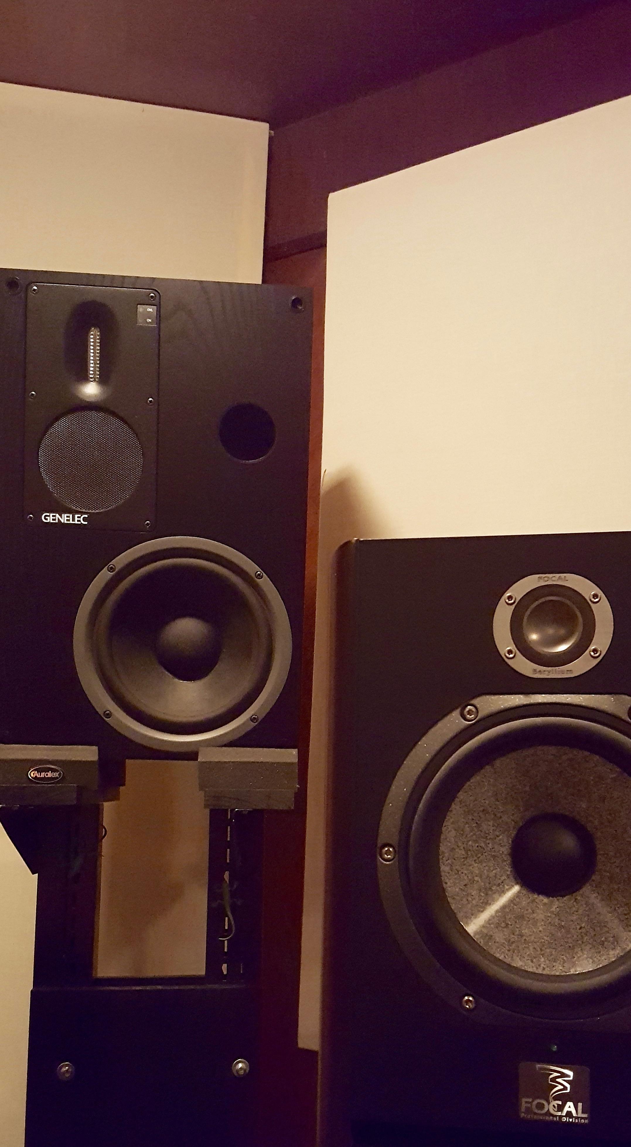 Genelec and Focal monitors
