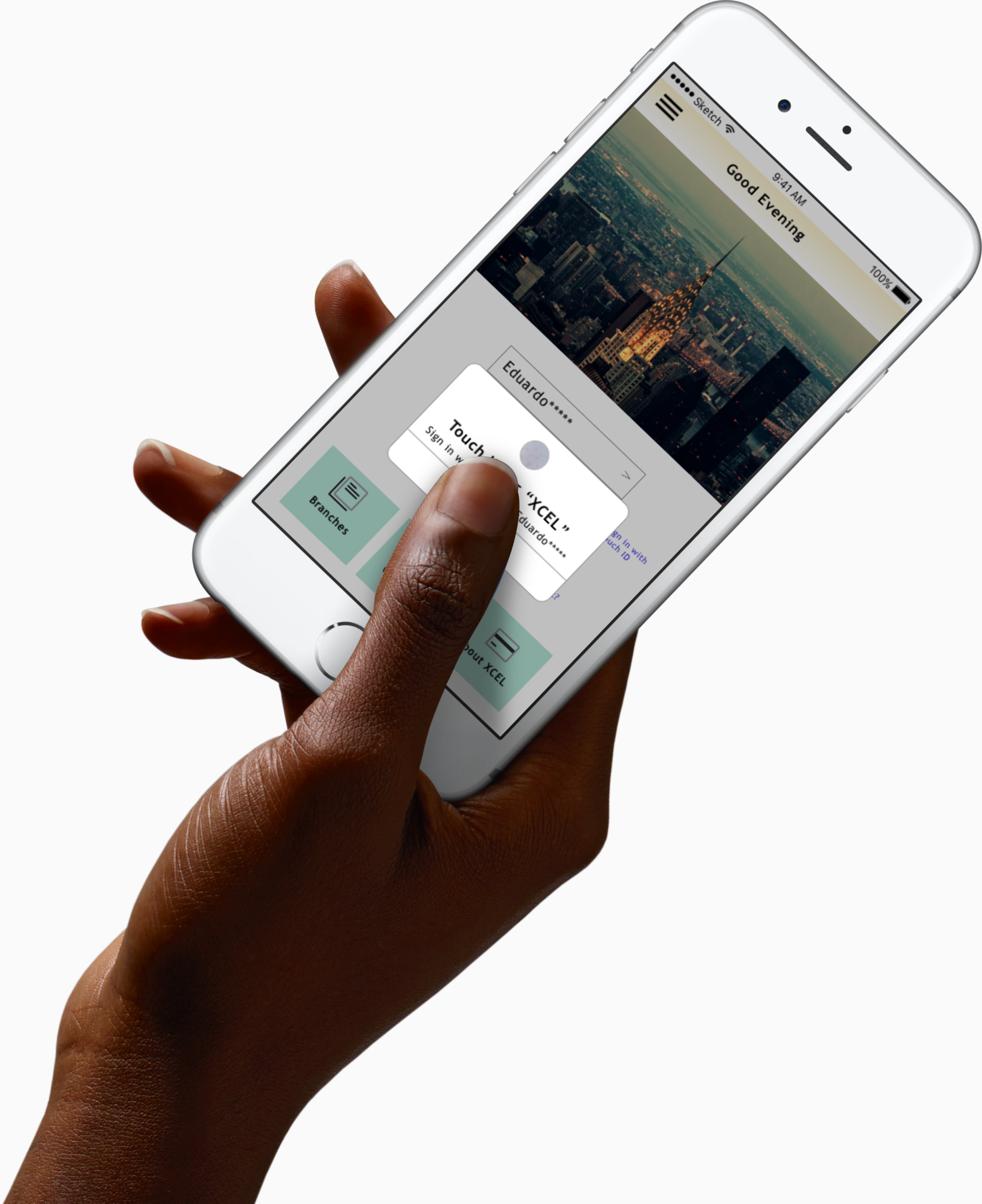 Concept Rendering for XCEL App design