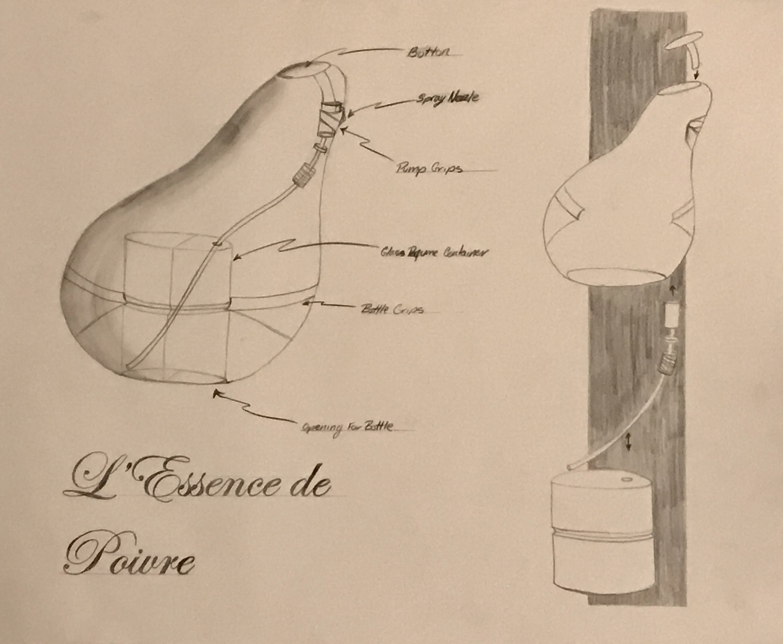 Perfume bottle for Pear fragrance