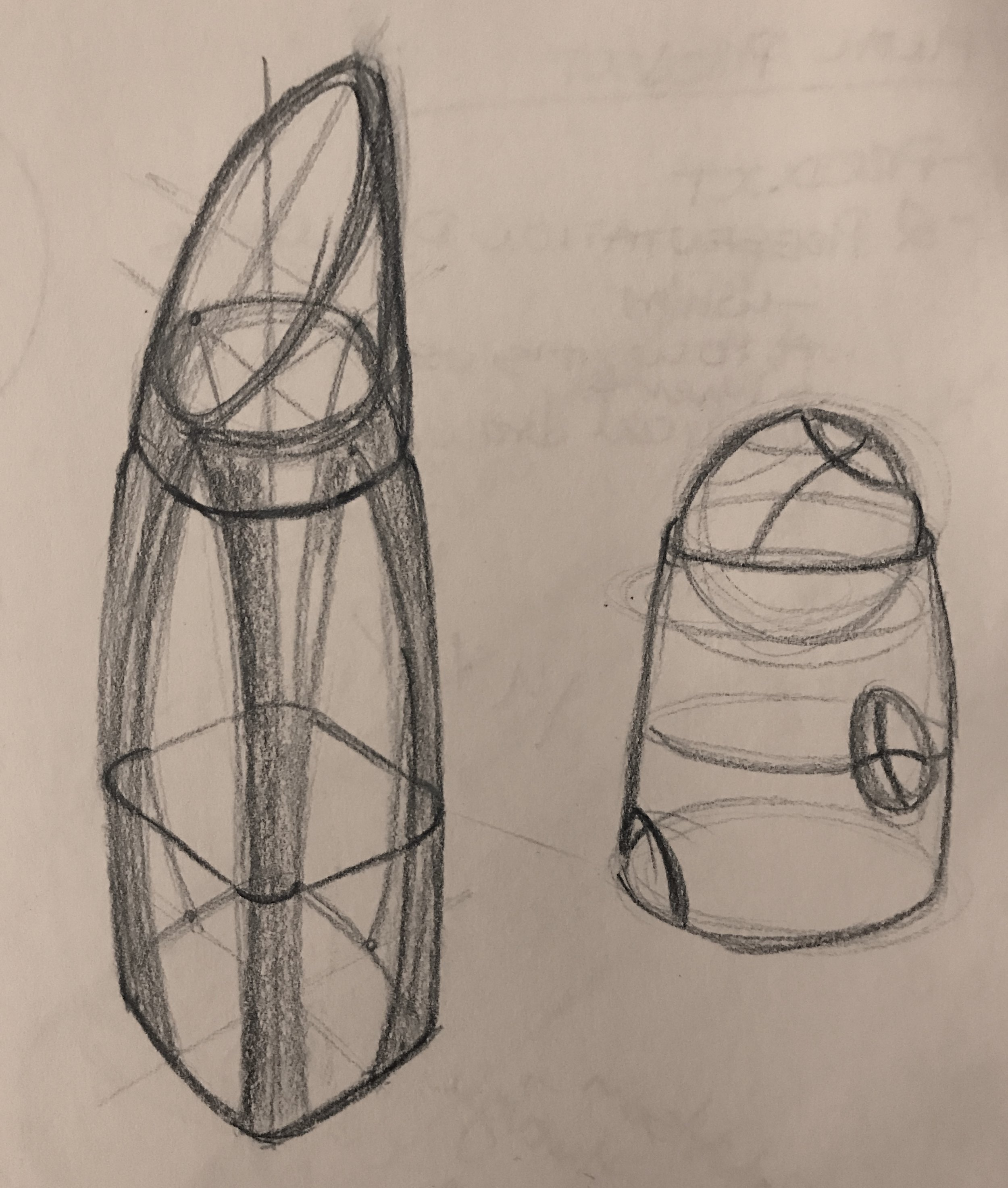 Perfume bottle sketches