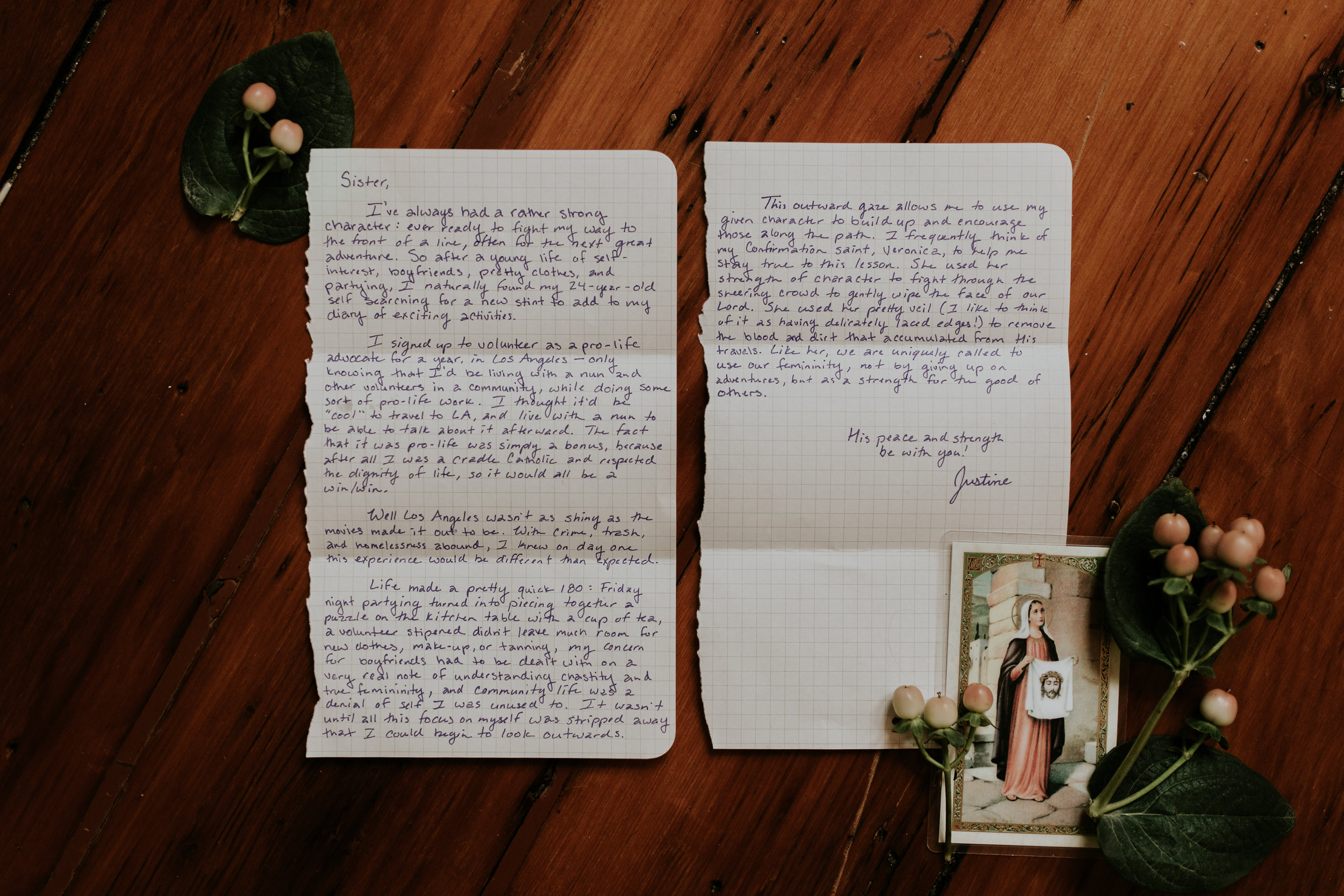 The-Catholic-Woman-Justine-Morris-Letter-Saint-Veronica