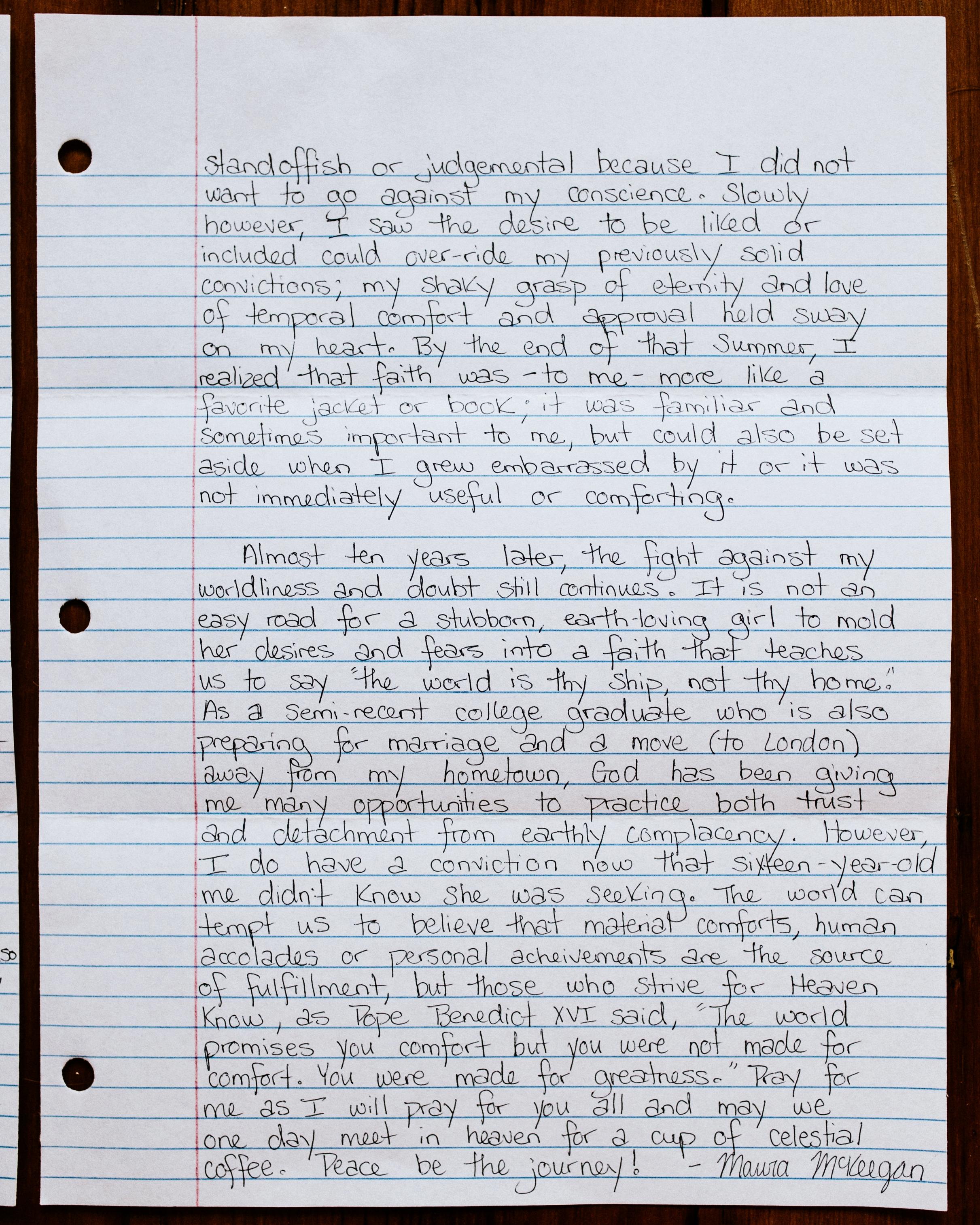 Maura Barnes The Catholic Woman Letter to Women 2