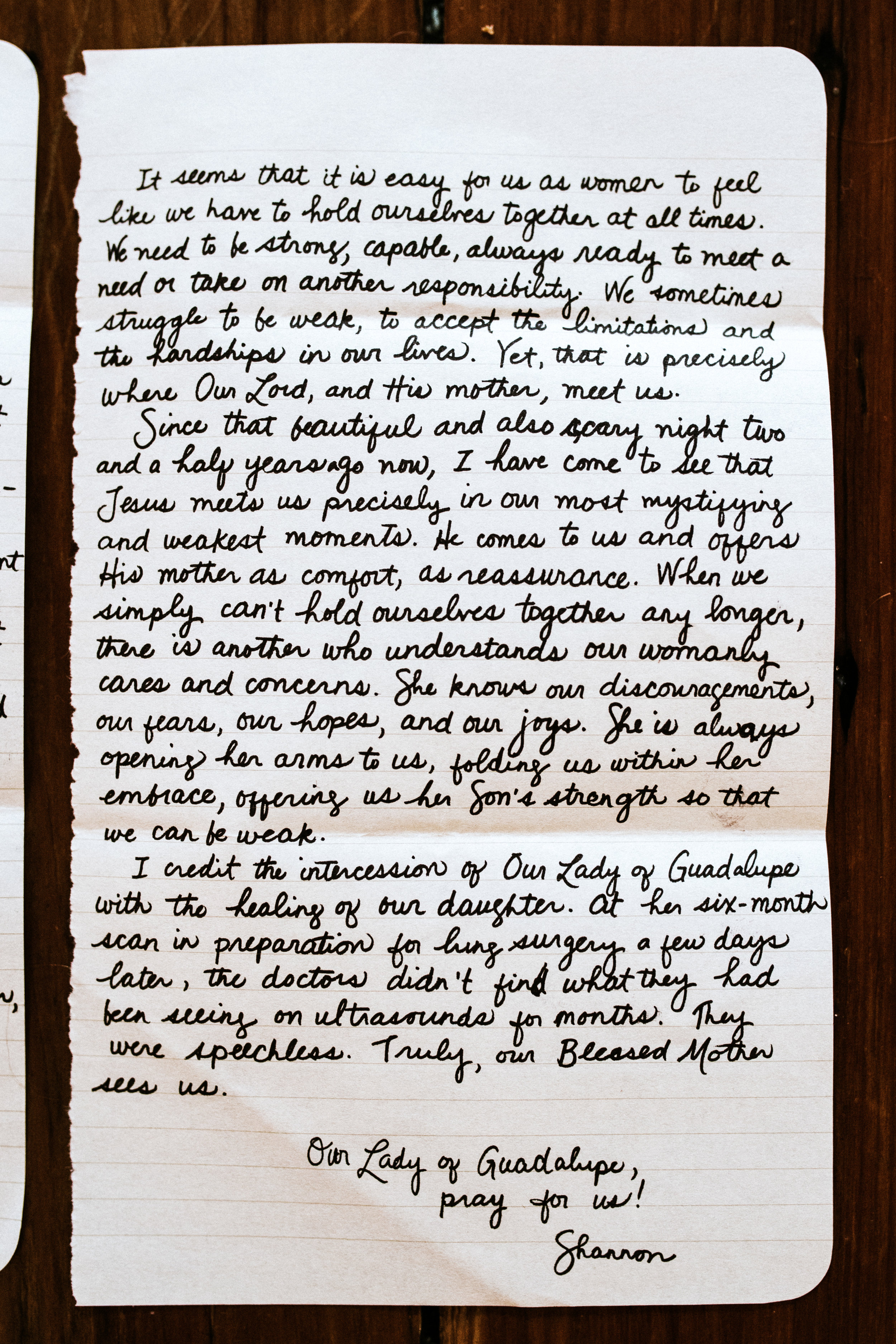 Shannon Lacy Letter to Women The Catholic Woman 2