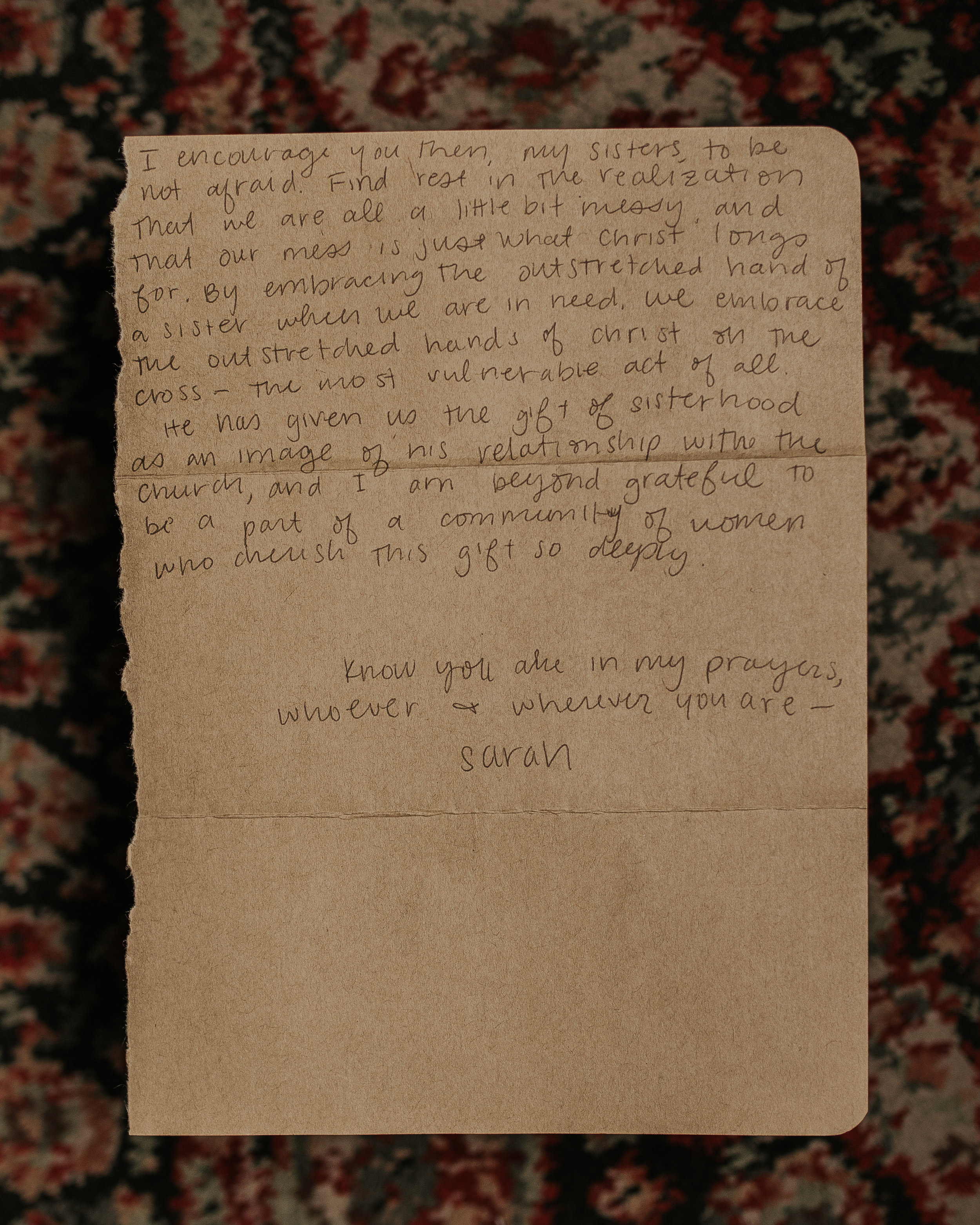 Sarah Malone Letter to Women the Catholic Woman 2