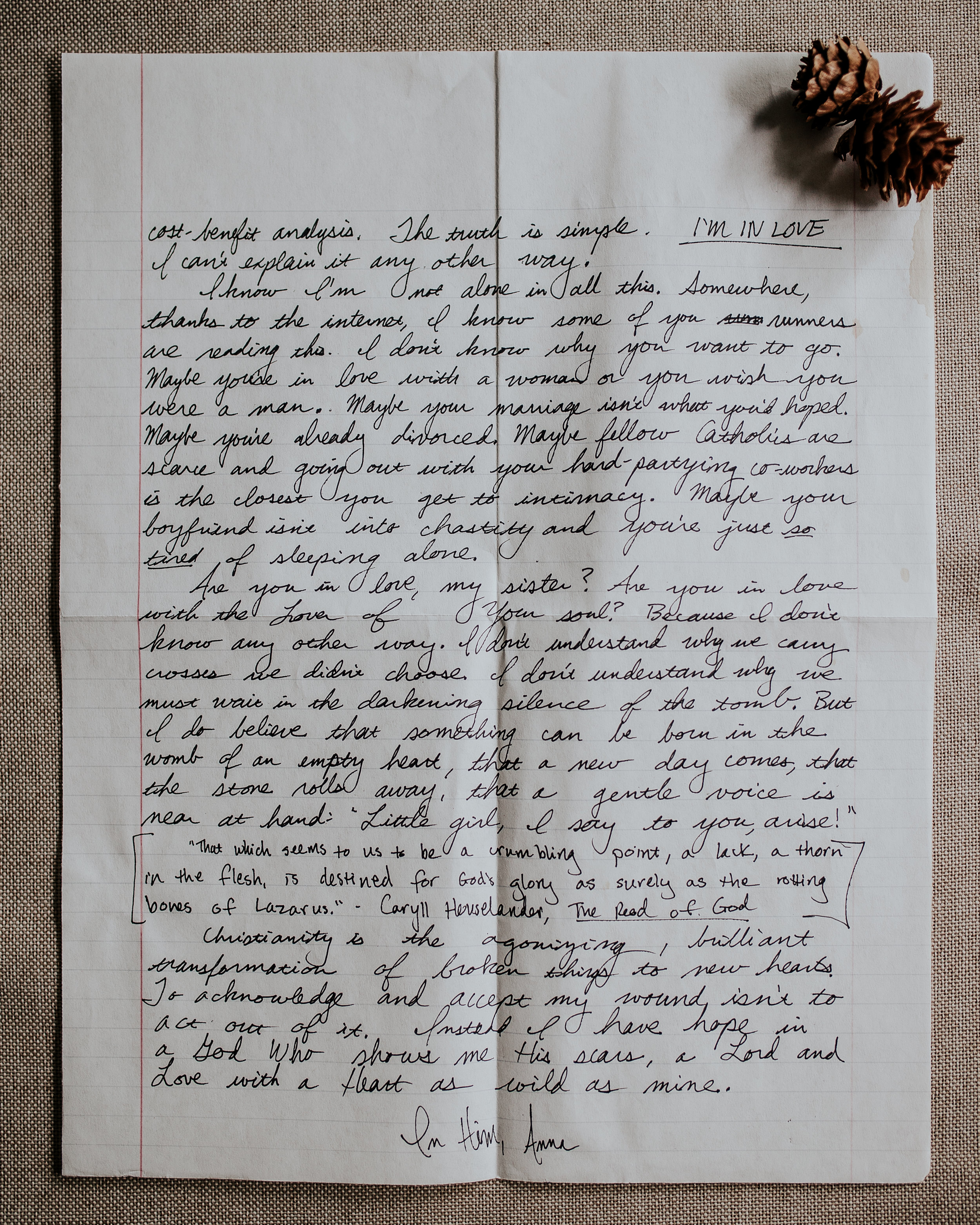 Anna Carter Letter to Women The Catholic Woman