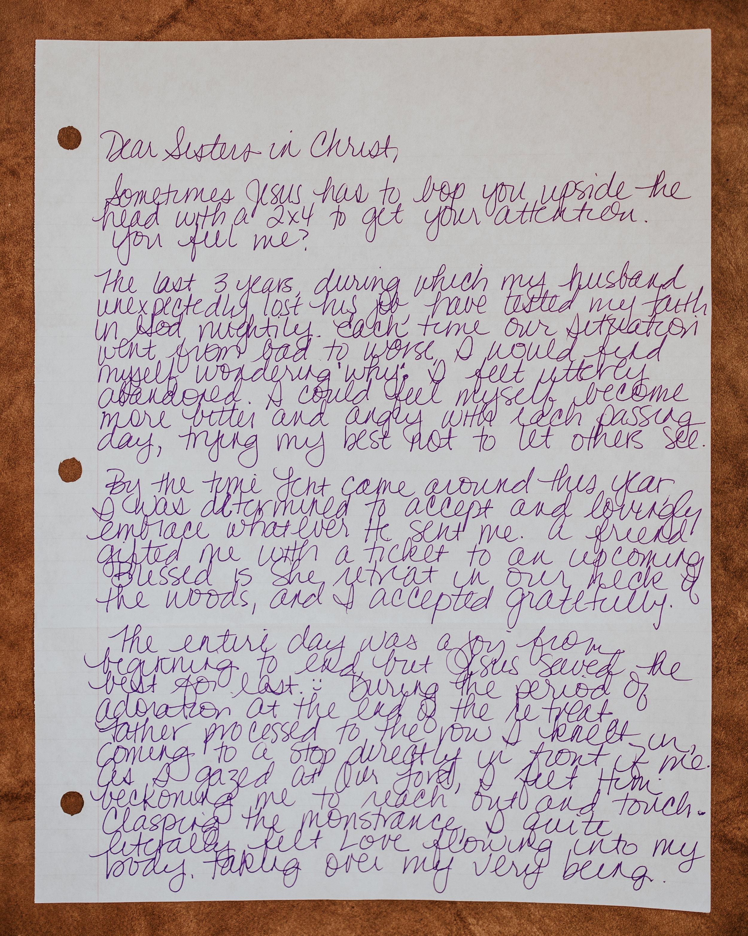 Jennifer Brannon Letter to Women 1