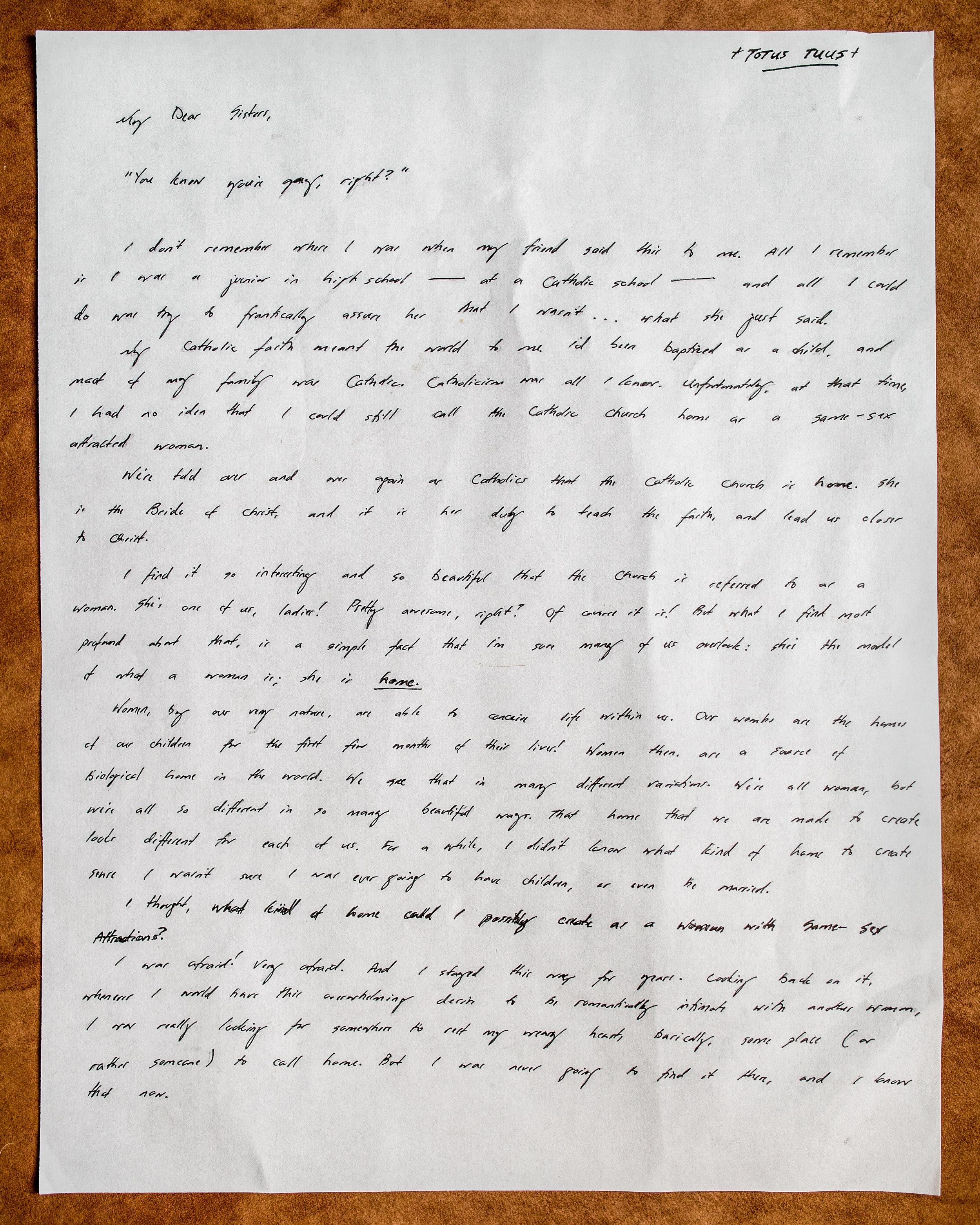 Avera Maria Santos Letter to Women 1
