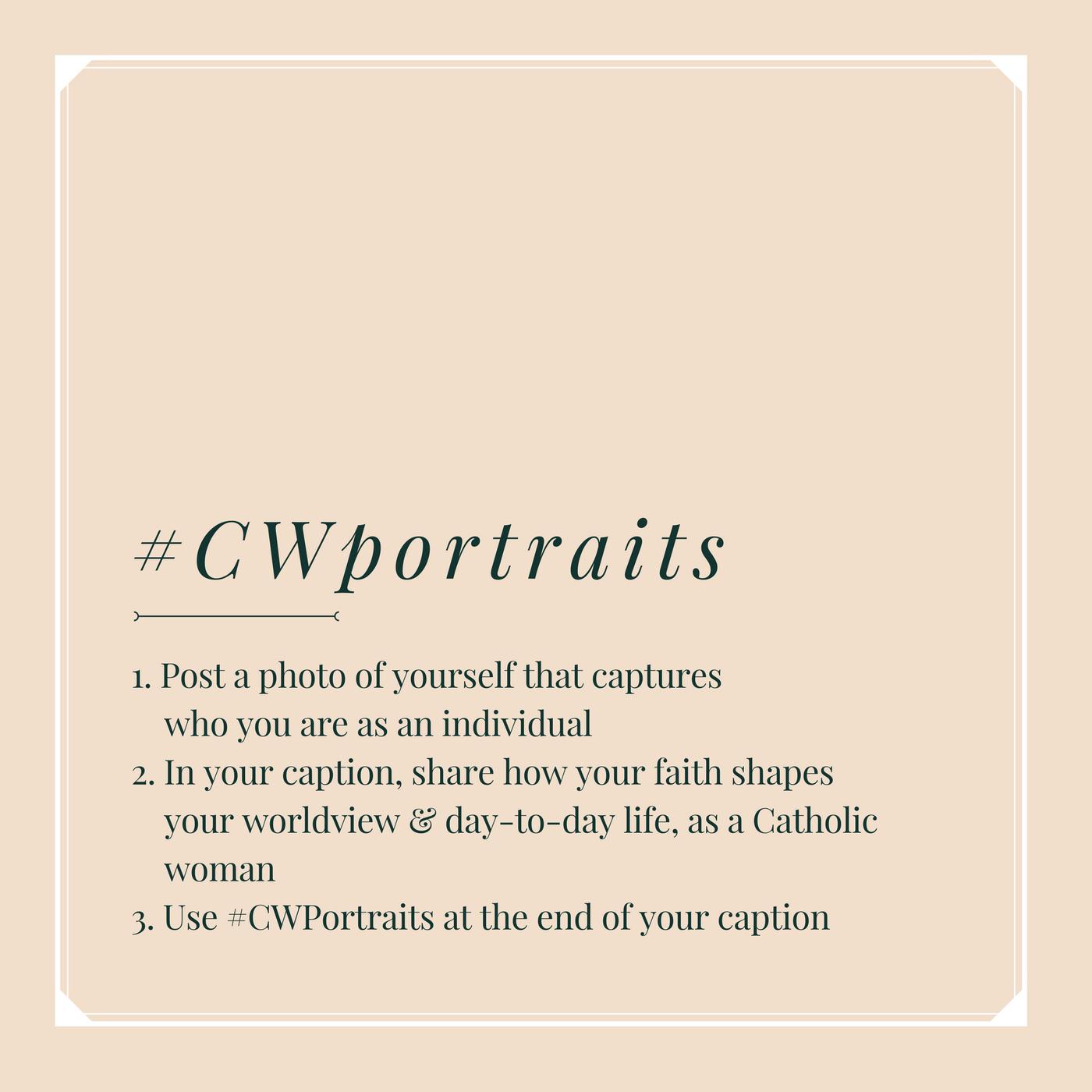 #CWportraits instructions