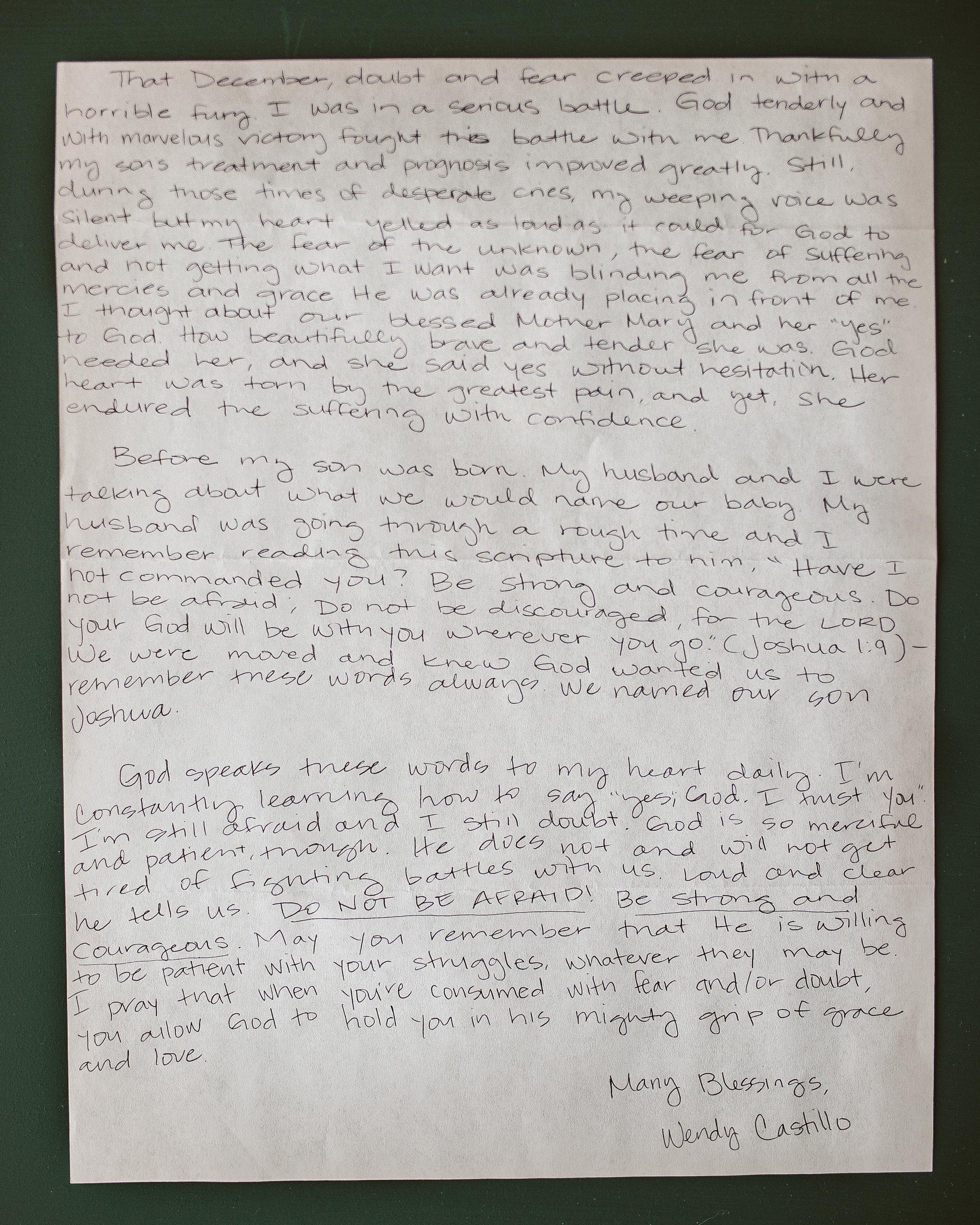 Wendy Castillo Letter to Women 2