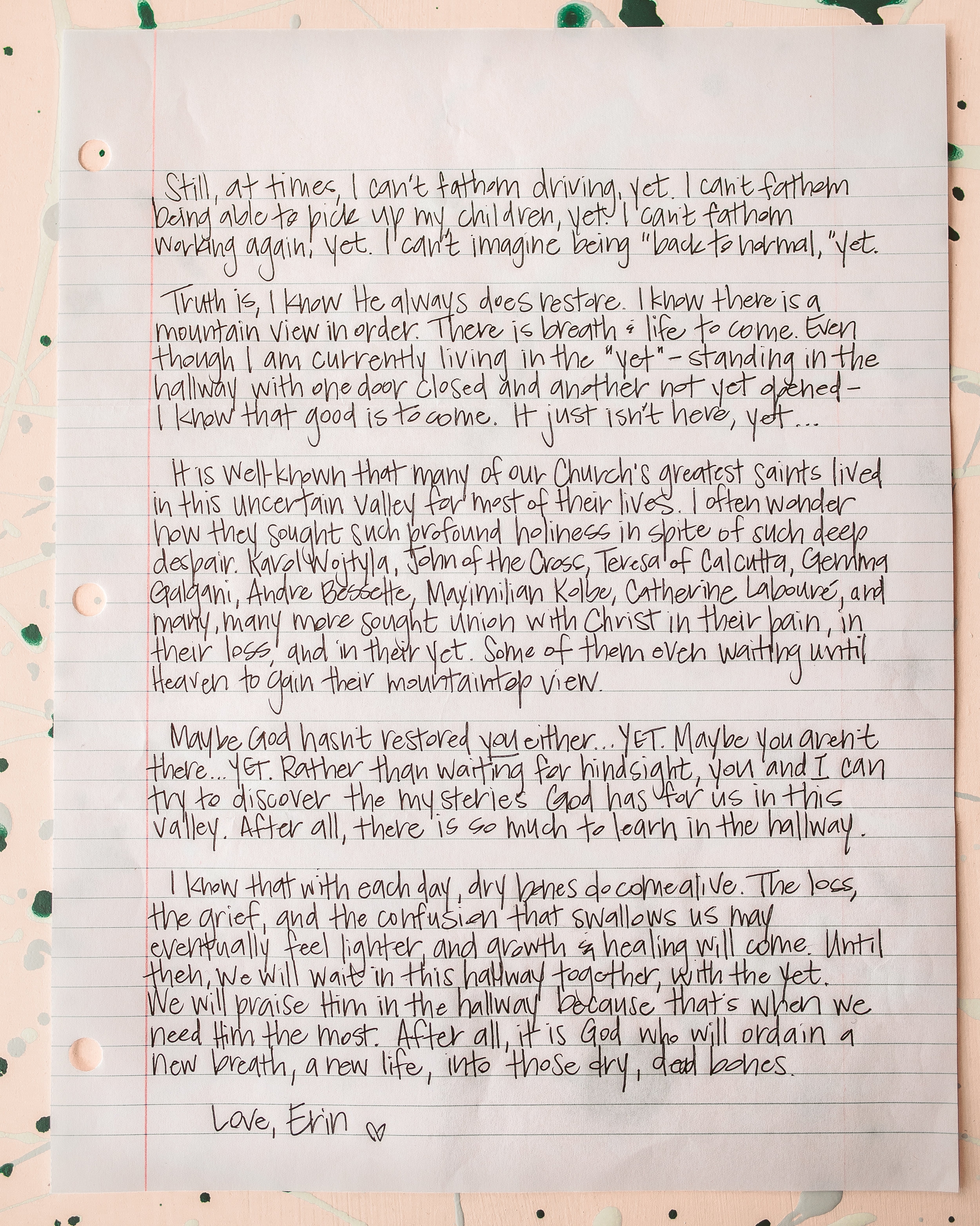 Erin Thomas Letter to Women 2