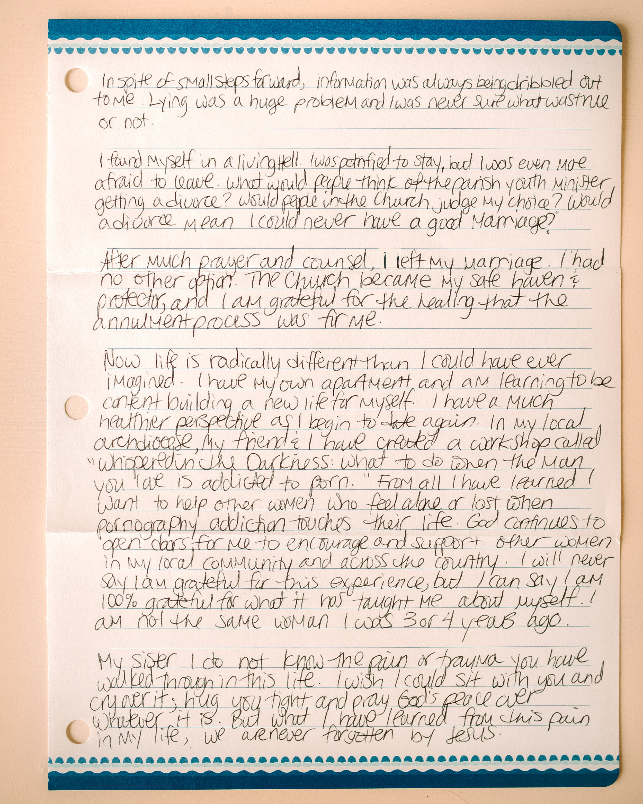Patty Breen Letter to Women 2