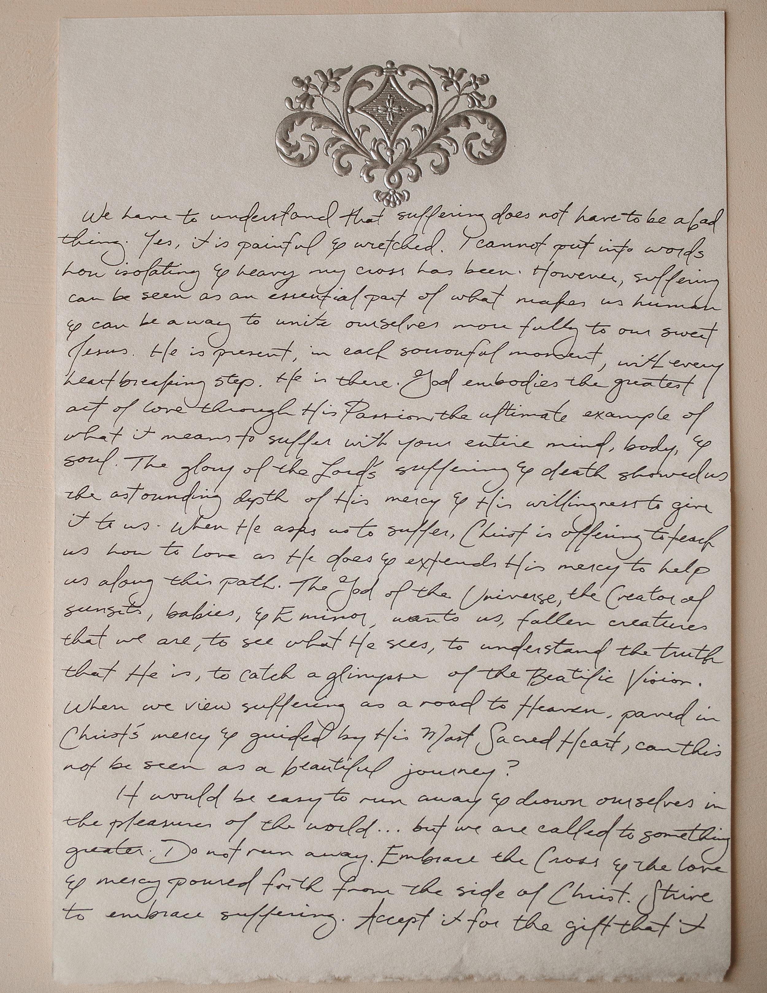 Frances Parsons Letter to Women 2