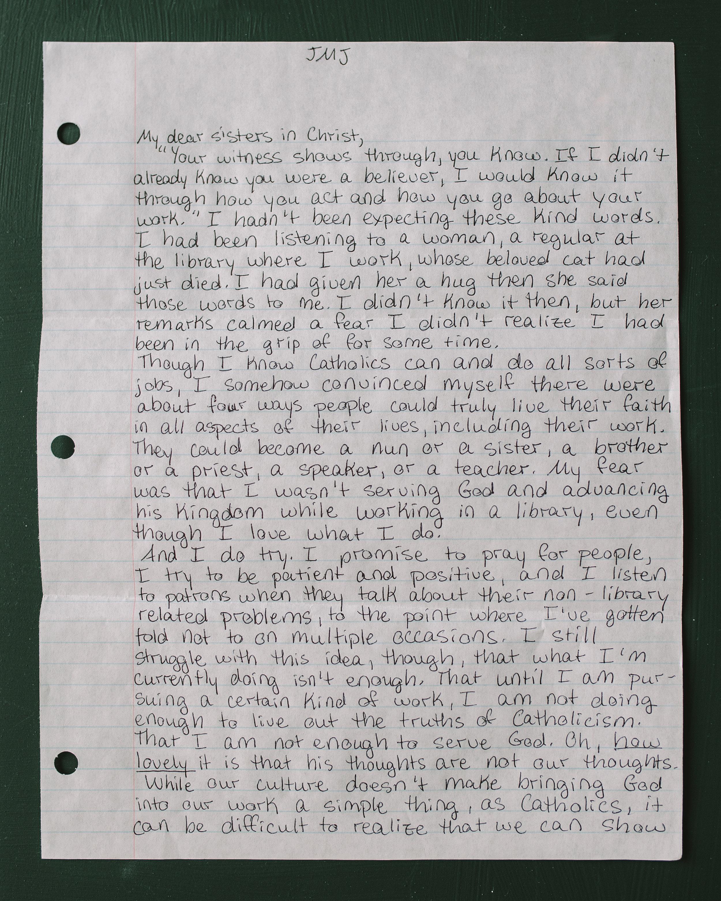 Elizabeth Hoyle Letter to Women 1
