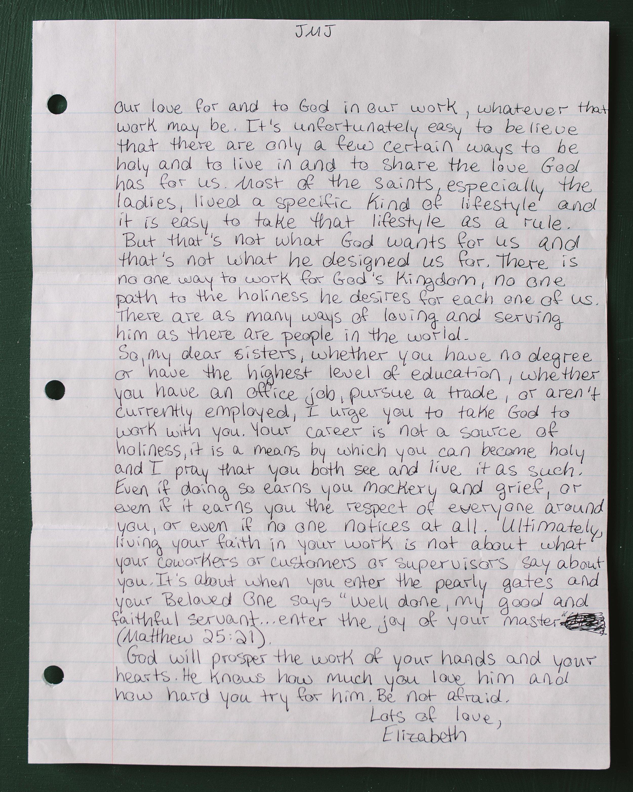 Elizabeth Hoyle Letter to Women 2