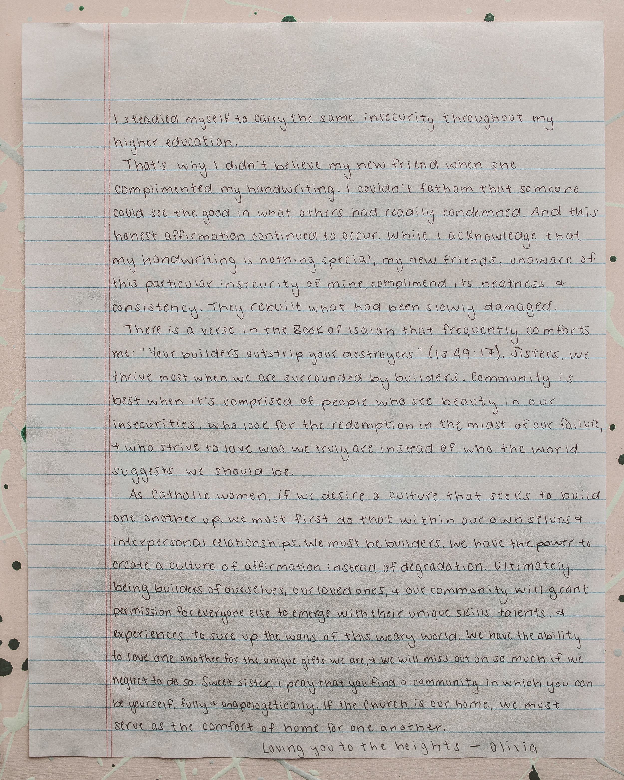 Olivia Spears Letter to Women 2