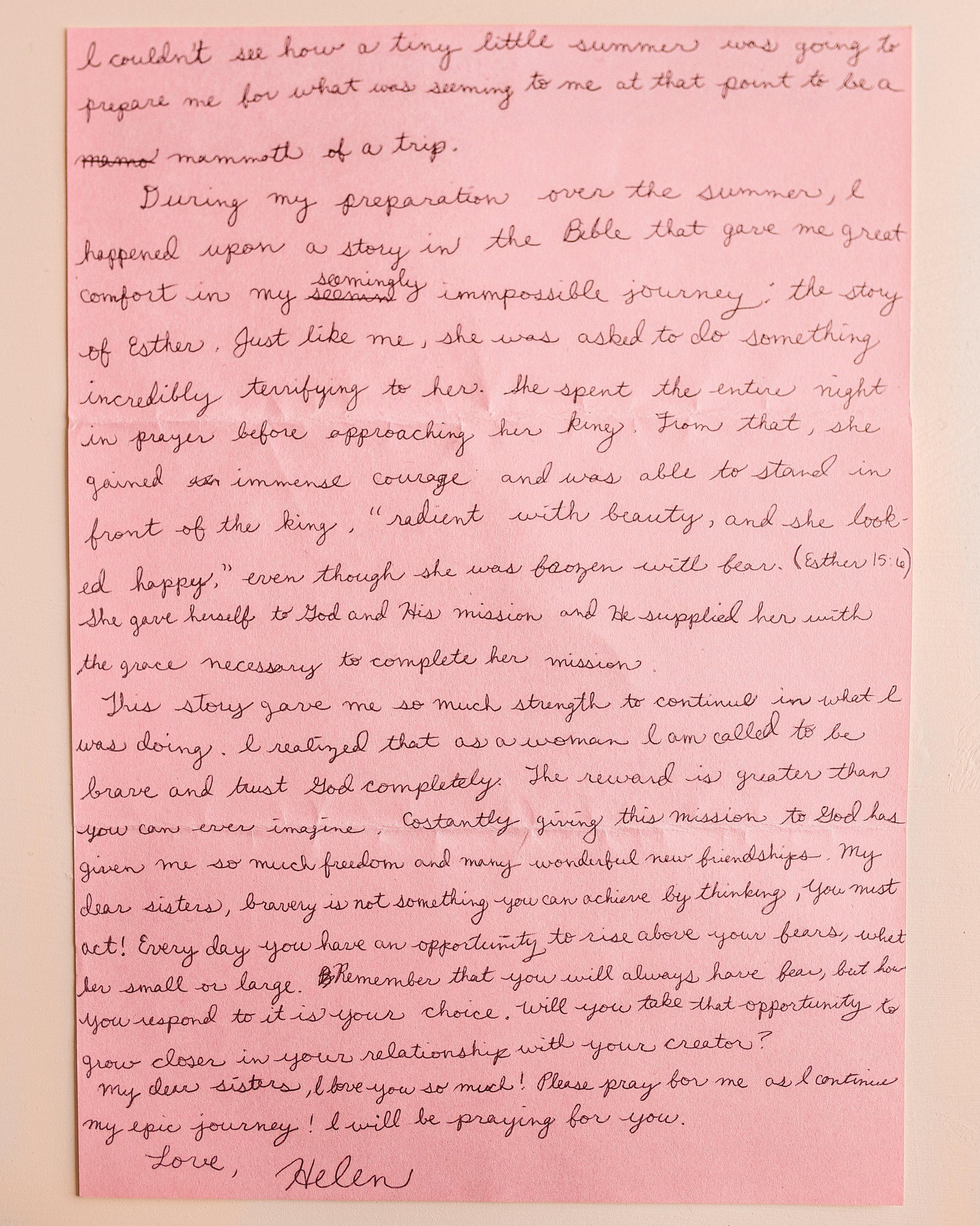 Helen Kelly Letter to Women 2