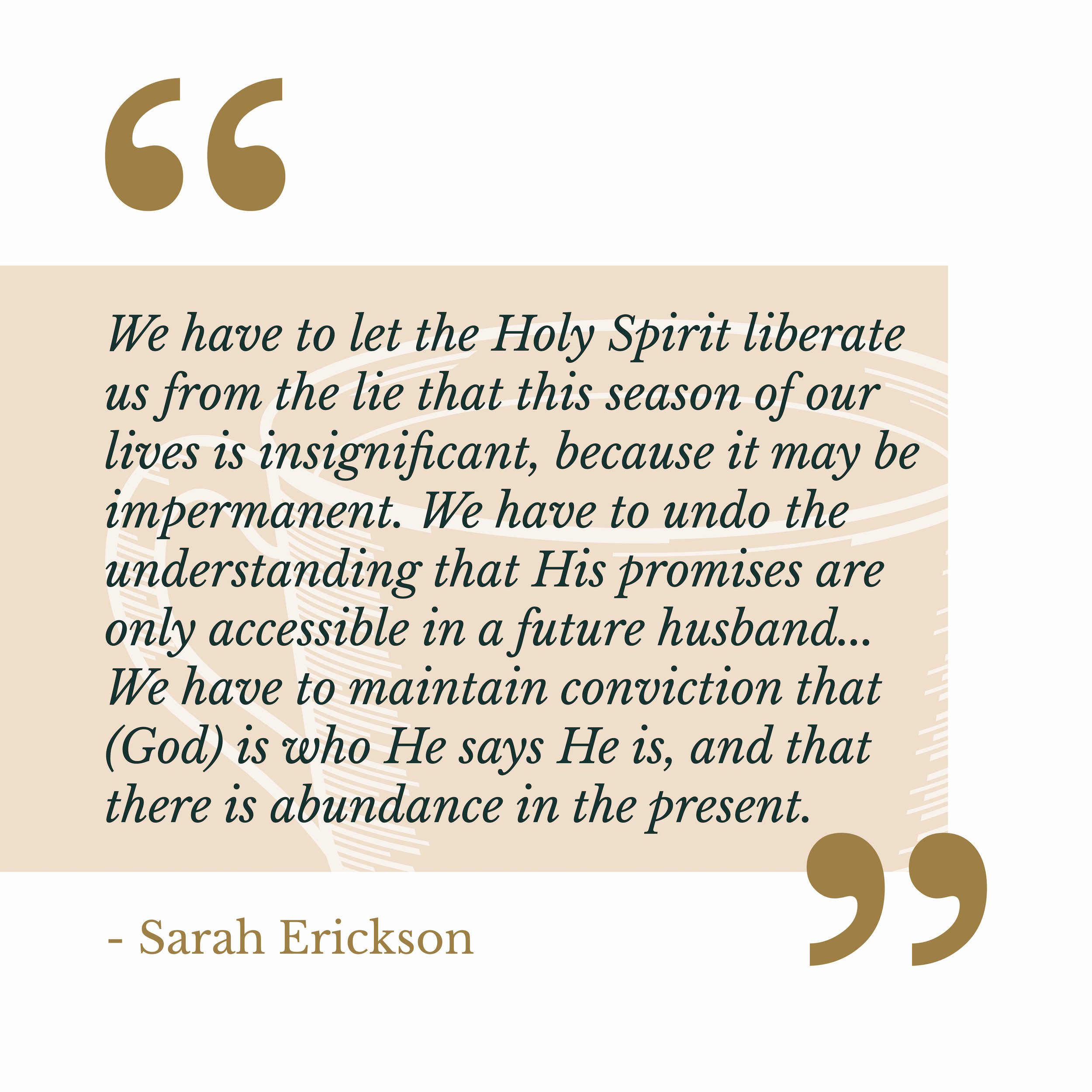 Sarah Erickson The Catholic Woman Quote