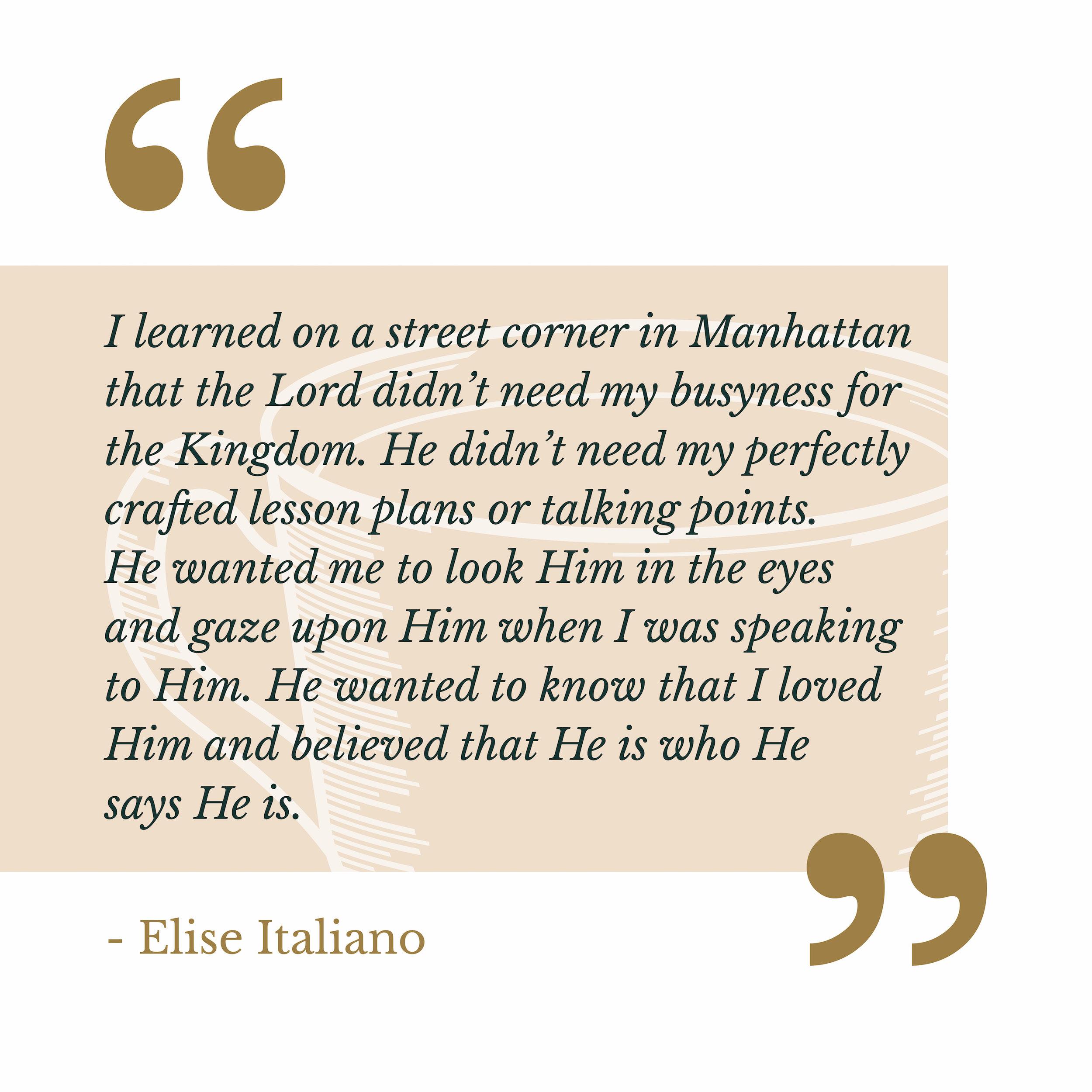 Elise Italiano via The Catholic Woman