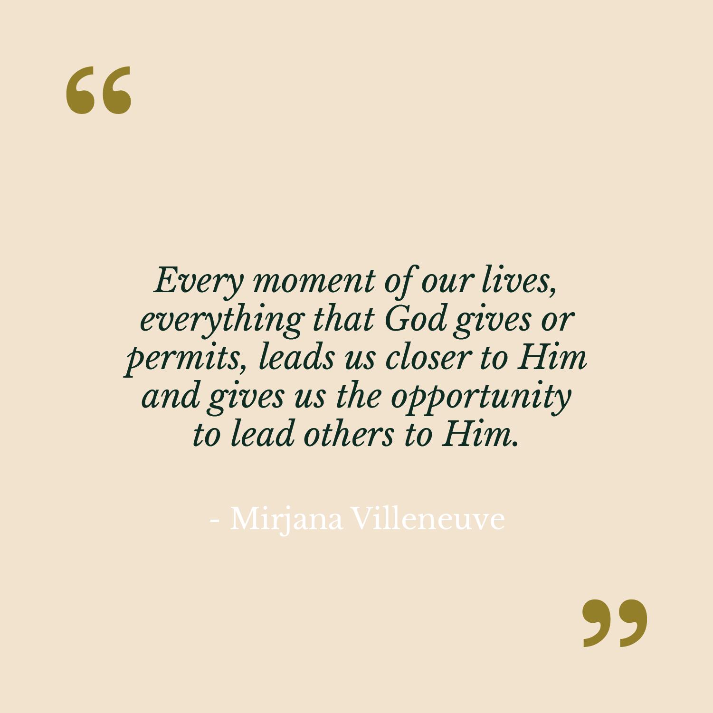 Letter from Mirjana Villeneuve