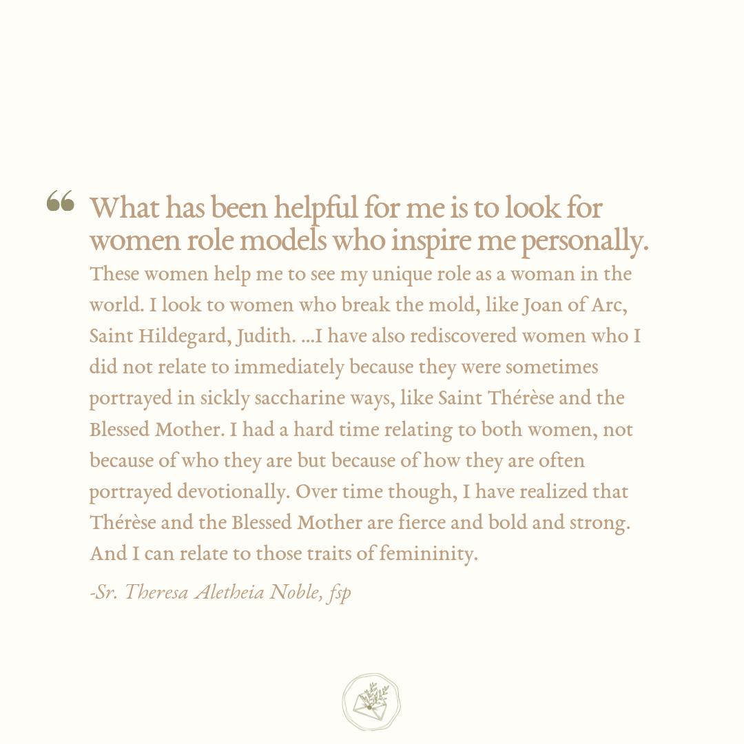 Sr. Theresa Aletheia Noble, via The Catholic Woman