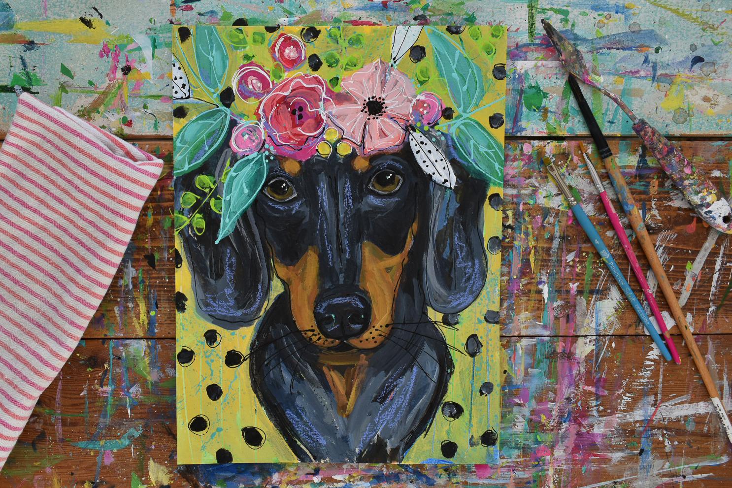 bohopainting_dachshund_petportrait_flowercrown_daisyfaithart4.jpg